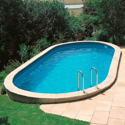 piscina ovalada enterrada